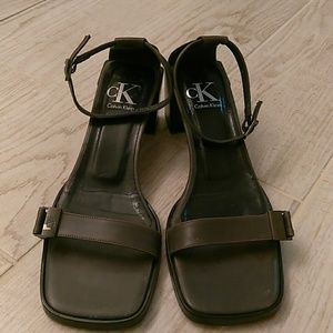 Calvin Klein Olive Green Sandals